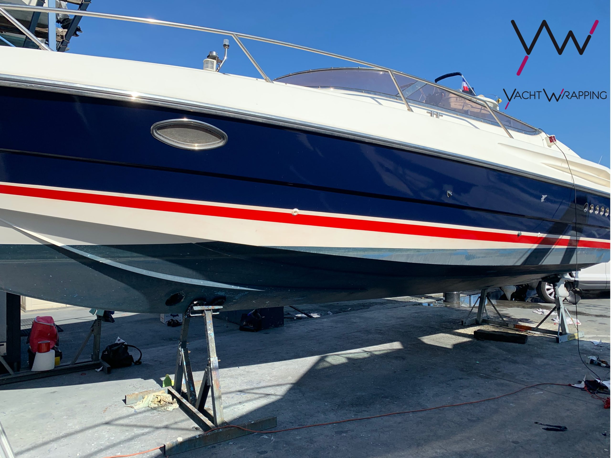 Sunseeker Hawk 31 - Covering de coque